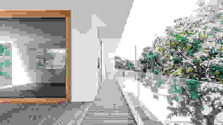 Projekty,  Taras zaprojektowane przez Földes Architects, Minimalistyczny