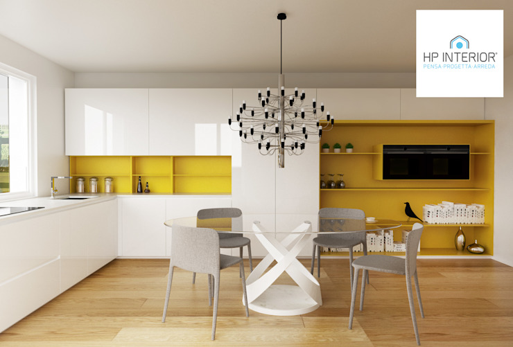 HP Interior srl KücheTische und Sitzmöbel MDF Gelb