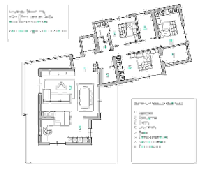 SULLE RIVE DEL LAGO DI GARDA Pareti & Pavimenti in stile moderno di HP Interior srl Moderno