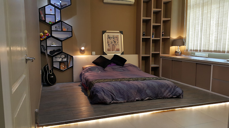 Modern contemporary Modern style bedroom by Alecc Interior Design Modern