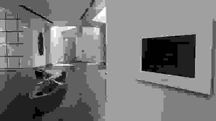 Villa TM Pasillos, vestíbulos y escaleras modernos de Domótica y Automatización Integral Moderno