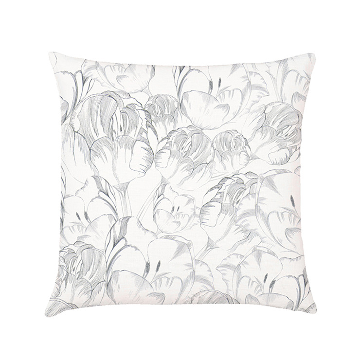 Belleflower cushion cover ash di Occipinti Rurale