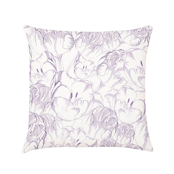 Moonflower cushion cover lilac di Occipinti Rurale