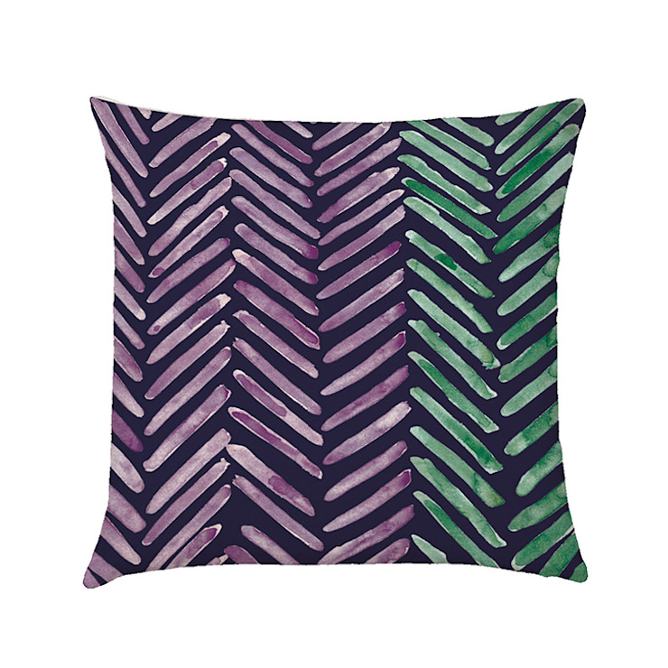 Herringbone cushion cover indigo di Occipinti Rurale