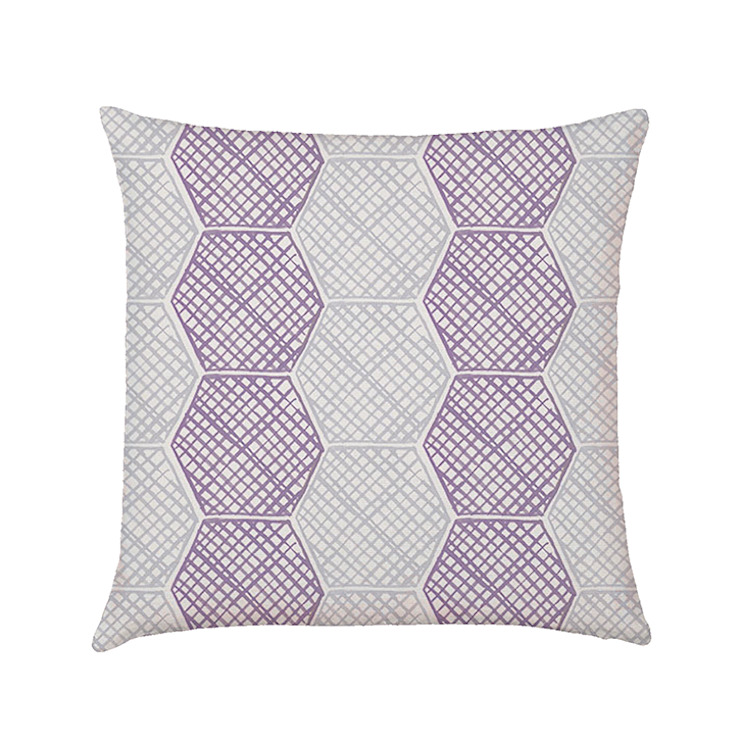 Honeycomb cushion cover lilac di Occipinti Rurale