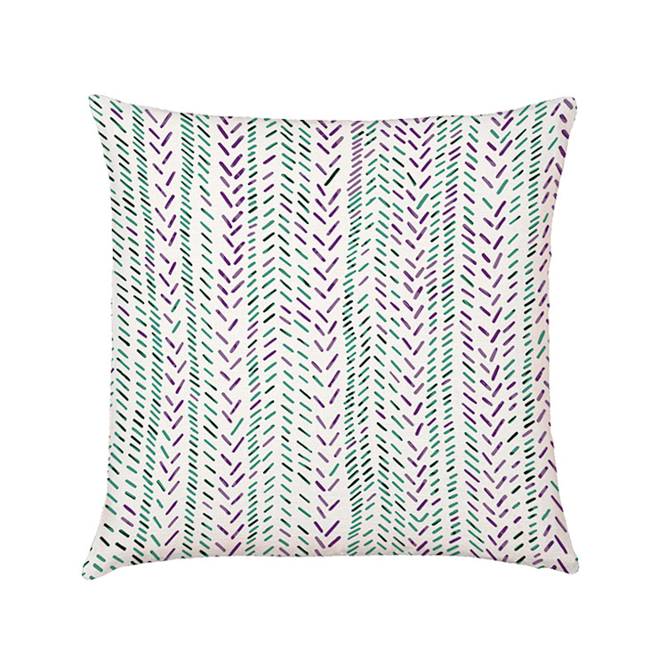 Micro chevron cushion cover: country  by Occipinti, Country