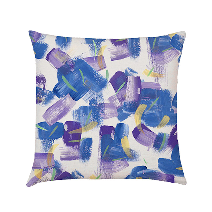 Painterly cushion cover cobalt: country  by Occipinti, Country