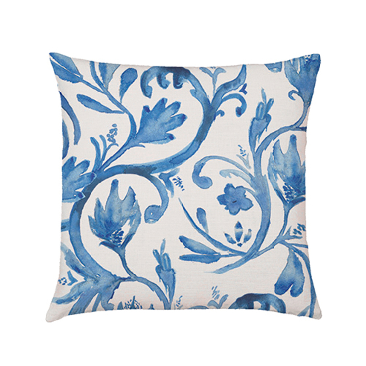 Rushflower cushion cover cobalt di Occipinti Rurale