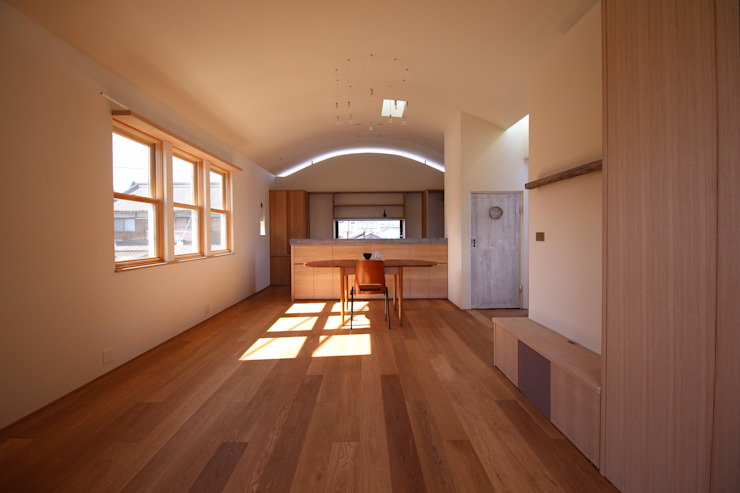 House in Uenokurumazaka ミニマルデザインの キッチン の Mimasis Design/ミメイシス デザイン ミニマル 木 木目調
