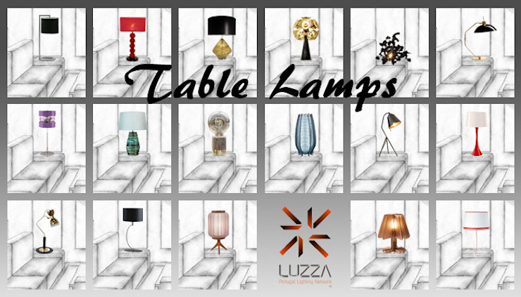 Table Lamps por LUZZA by AIPI - Portuguese Lighting Association Moderno