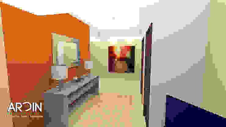 Recibidor Pasillos, vestíbulos y escaleras modernos de ARDIN INTERIORISMO Moderno