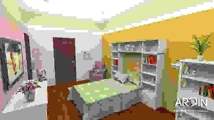 Recamara 2 Dormitorios modernos de ARDIN INTERIORISMO Moderno