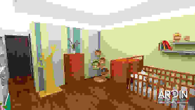 Recamara bebé Dormitorios modernos de ARDIN INTERIORISMO Moderno