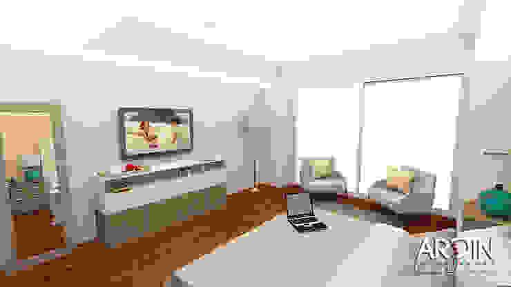 Recamara Pincipal Dormitorios modernos de ARDIN INTERIORISMO Moderno