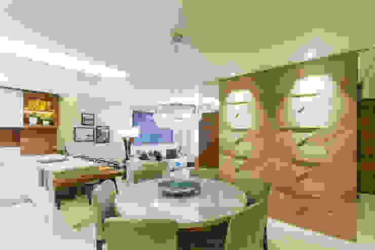 غرفة السفرة تنفيذ Juliana Agner Arquitetura e Interiores, حداثي