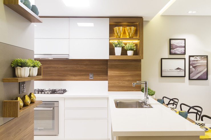 Modern style kitchen by Juliana Agner Arquitetura e Interiores Modern