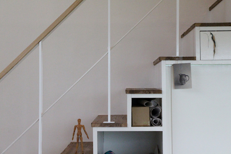 Atelier in Iga オリジナルスタイルの 玄関&廊下&階段 の Mimasis Design/ミメイシス デザイン オリジナル 木 木目調