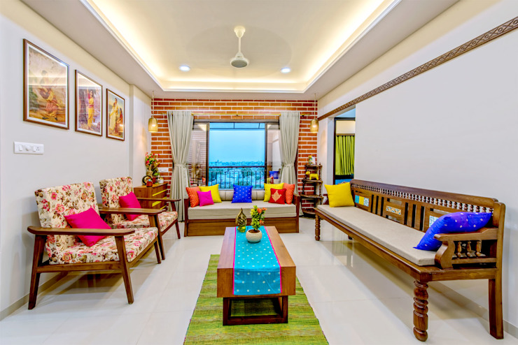 Pimpalgaonkar House Asian style living room by homify Asian