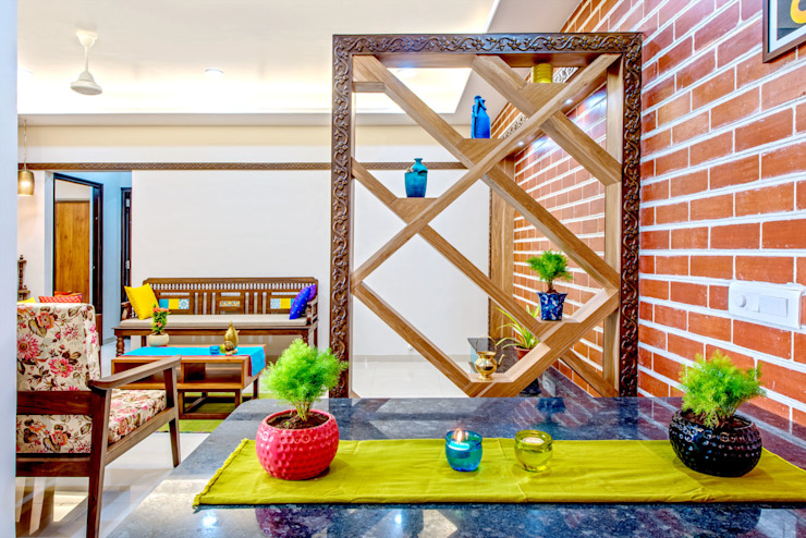 Pimpalgaonkar House Eclectic style dining room by homify Eclectic
