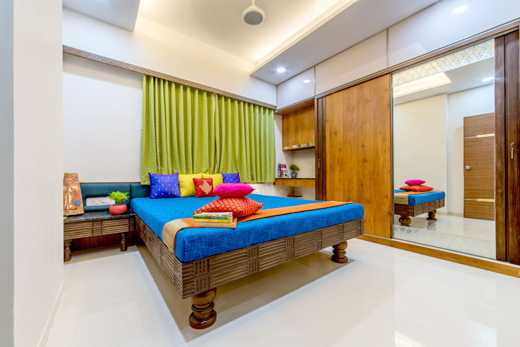 Pimpalgaonkar House Asian style bedroom by homify Asian