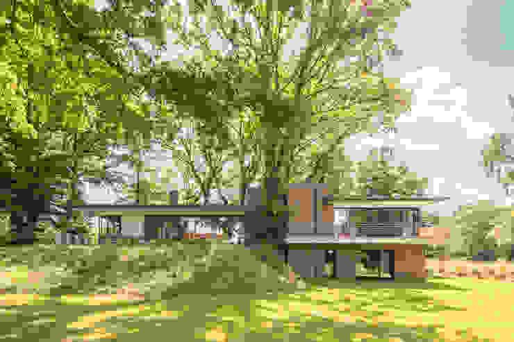Nowoczesne domy od Hellmers P2 | Architektur & Projekte Nowoczesny Cegły