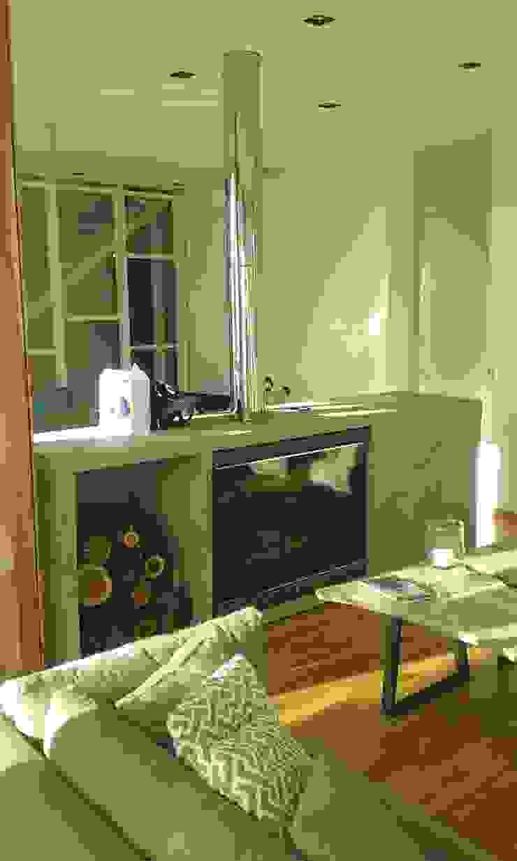Salas de estar minimalistas por estudio|44 Minimalista Betão