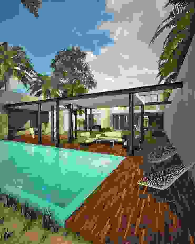 Balkon, Beranda & Teras Modern Oleh CARCO Arquitectura y Construccion Modern