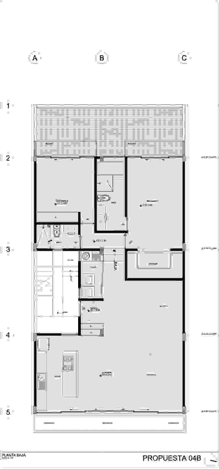 COATEPEC Casas modernas de gOO Arquitectos Moderno Concreto