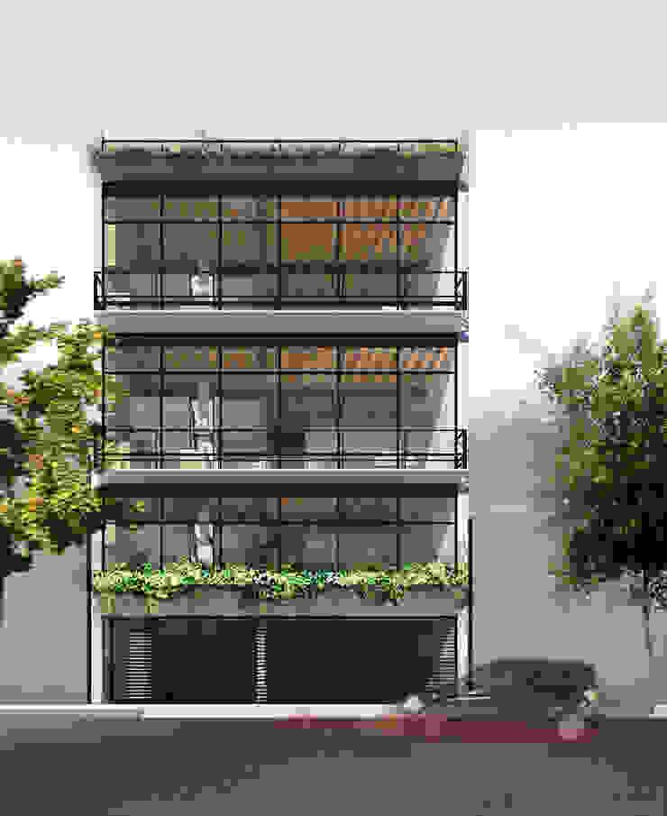 COATEPEC Balcones y terrazas modernos de gOO Arquitectos Moderno