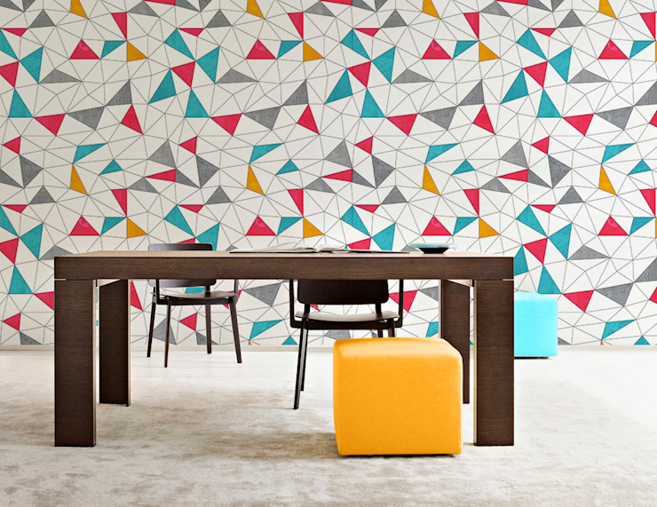 Colorful Triangles Modern dining room by Pixers Modern