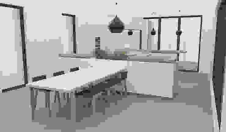Yeme + Saunier Kitchen Marble White