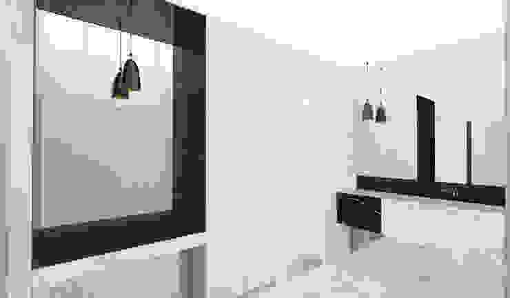 Yeme + Saunier Minimalist style bathroom Marble Black
