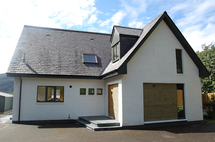 Exterior at completion. Modern houses by Matheson Mackenzie Ross Architects Modern Slate