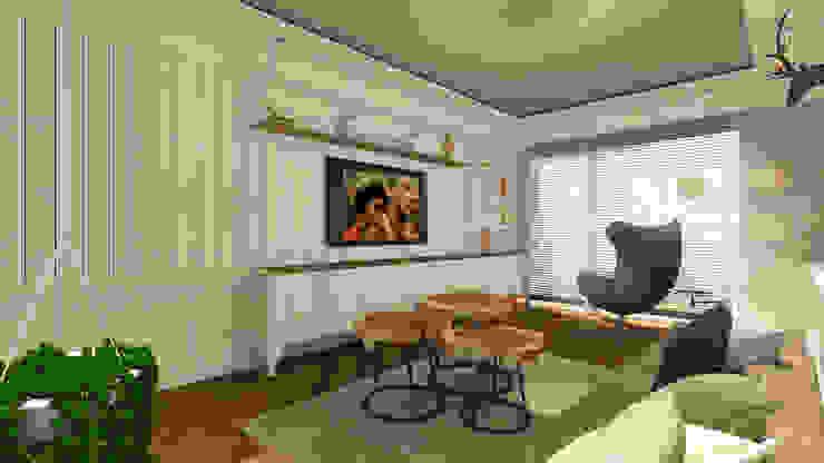 Sinan Başyazıcıoğlu Konut Rustik Oturma Odası Gümüşcü Mimarlık Rustik Ahşap Ahşap rengi