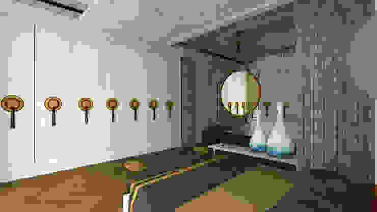 Sinan Başyazıcıoğlu Konut Rustik Yatak Odası Gümüşcü Mimarlık Rustik Ahşap Ahşap rengi