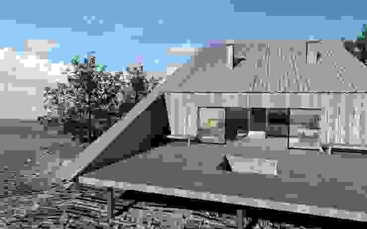Casas de estilo  de BIG IDEA studio projektowe, Industrial Madera Acabado en madera