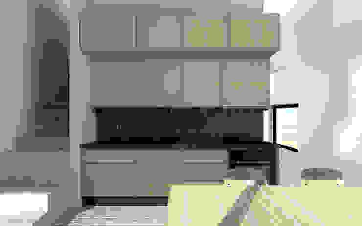 Industrial style kitchen by BIG IDEA studio projektowe Industrial Wood Wood effect