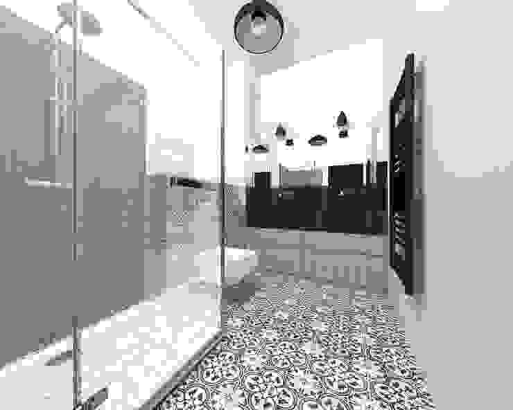 Industrial style bathrooms by BIG IDEA studio projektowe Industrial Wood Wood effect