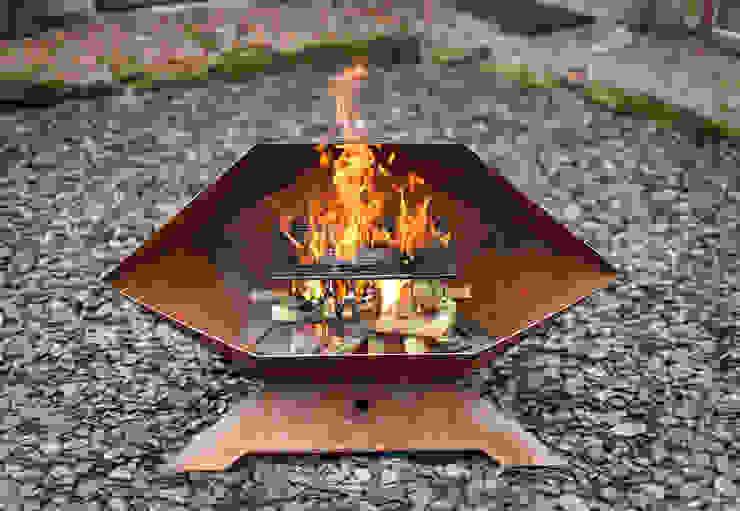 Sphenomegacorona Barbecue and Fire Pit par Digby Scott Designs Moderne Fer / Acier