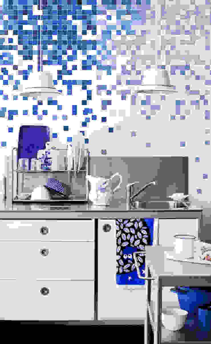 Blue squares Pixers Modern Kitchen