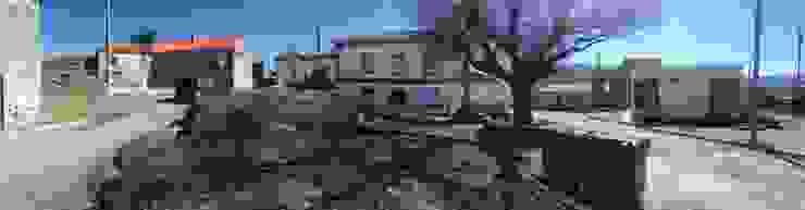 Requalificação Largo Diogo Osório - Lageosa do Mondego Casas rústicas por ARKIVO Rústico