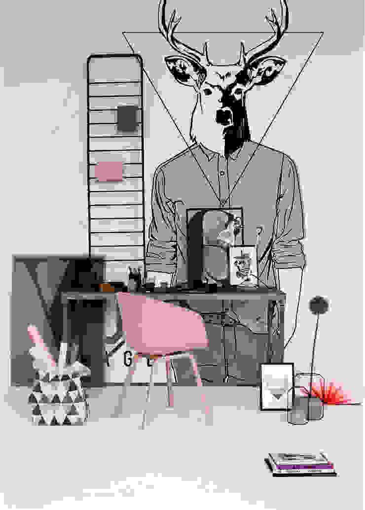 Hipster Deer Pixers Scandinavian style study/office