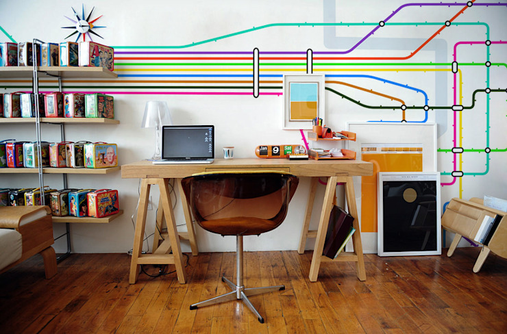 Underground Modern Study Room and Home Office by Pixers Modern