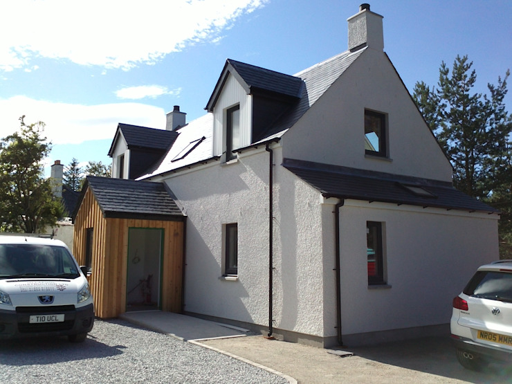 New House in Ullapool Casas de estilo rural de Matheson Mackenzie Ross Architects Rural Madera maciza Multicolor