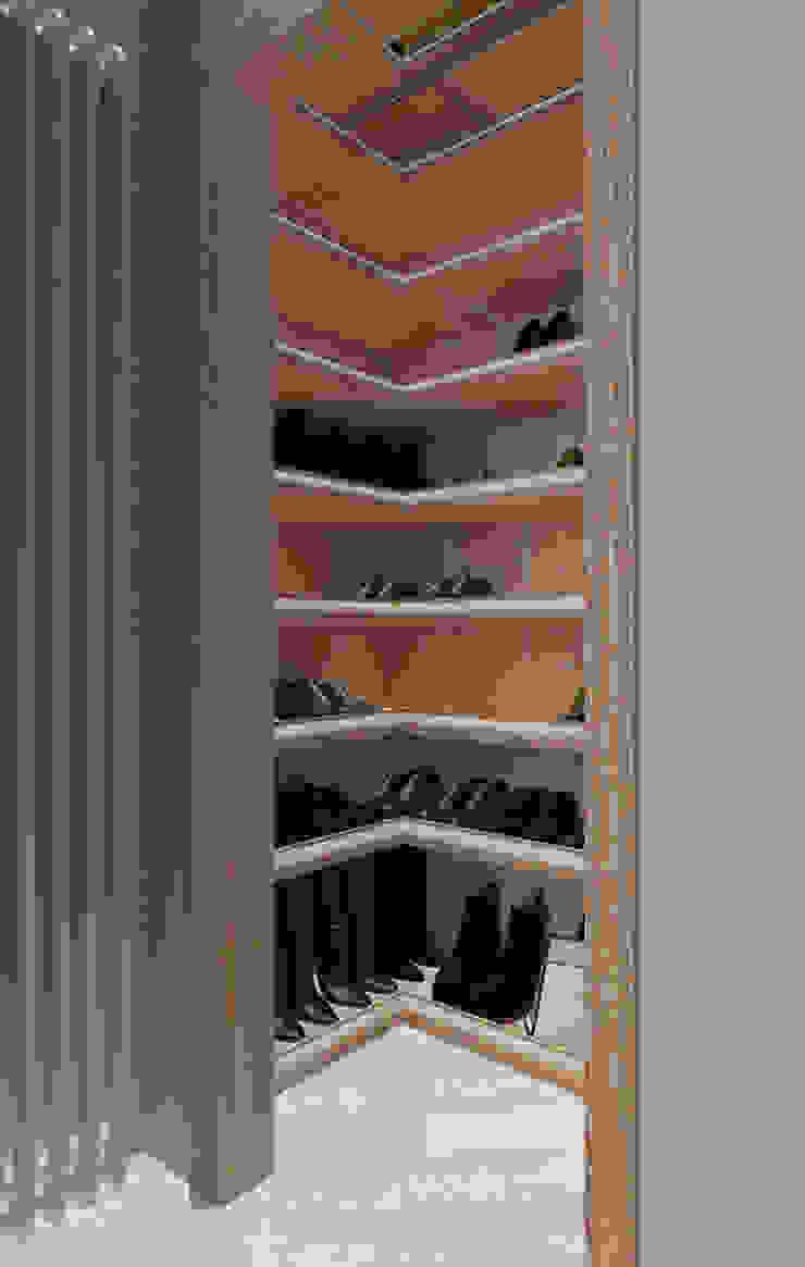 cabina scarpe di design WOOD Moderno