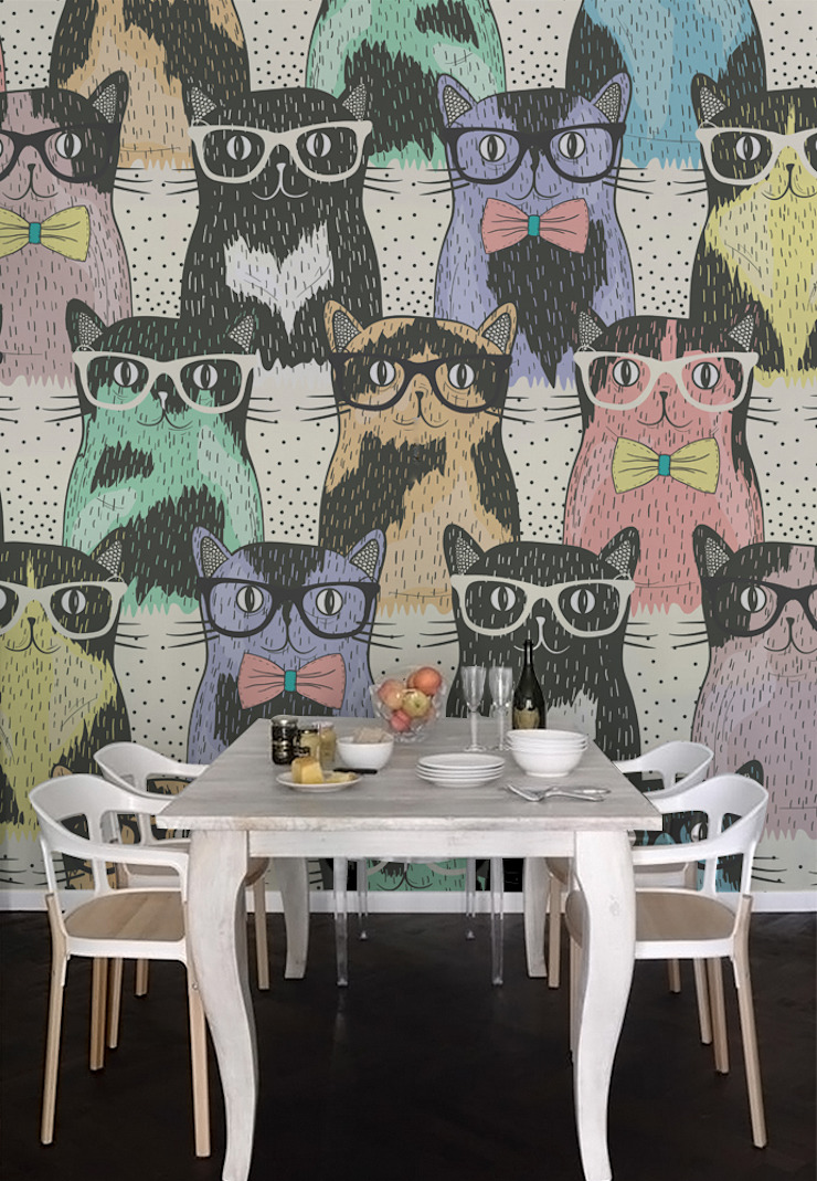 Cats Pixers Modern Dining Room