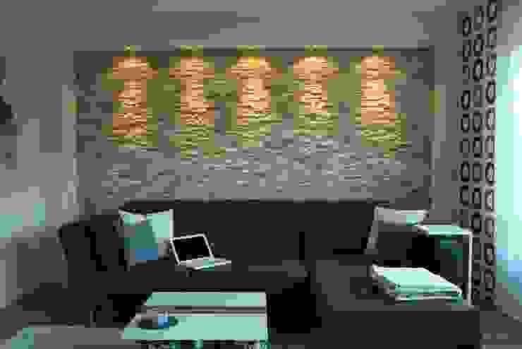 Mediterranean style living room by Rimini Baustoffe GmbH Mediterranean Stone