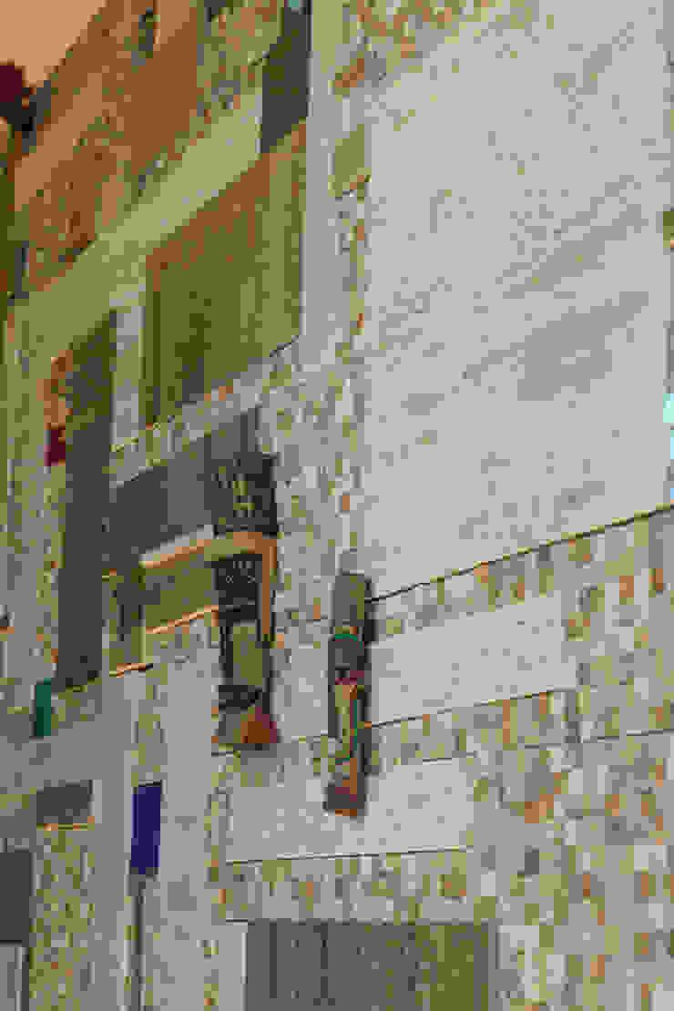 Mediterranean corridor, hallway & stairs by Atelier Ana Leonor Rocha Mediterranean