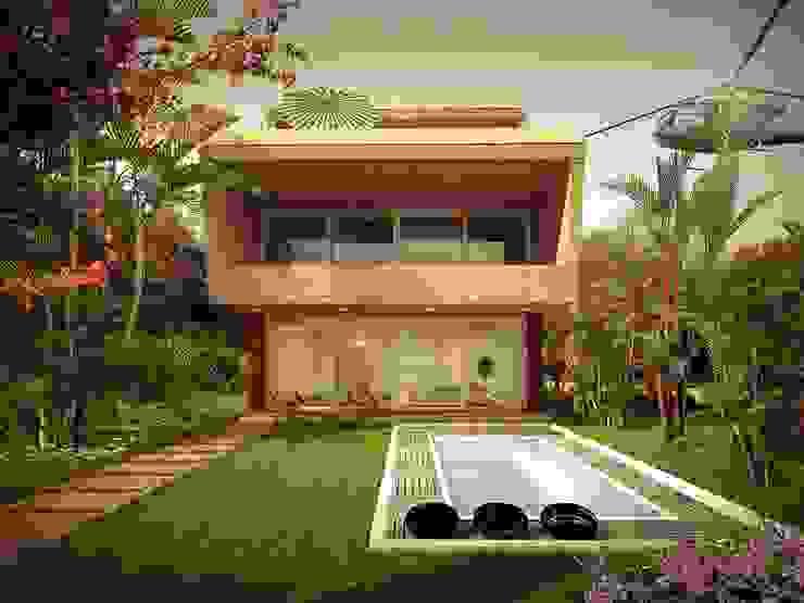 private bungalow Modern houses by KARU AN ARTIST Modern