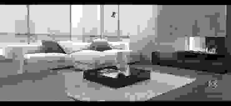 Salas de estar minimalistas por Elias Braun Architecture Minimalista Ardósia